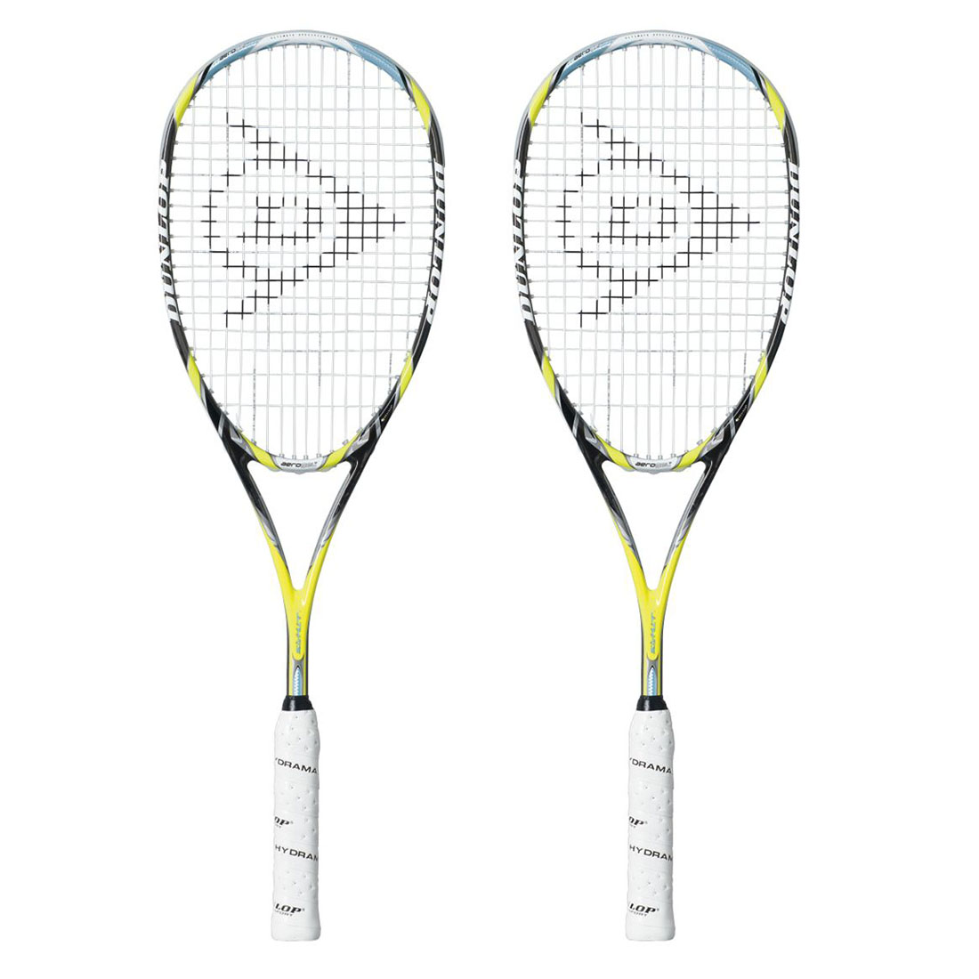 dunlop aerogel 4d ultimate squash racket double pack
