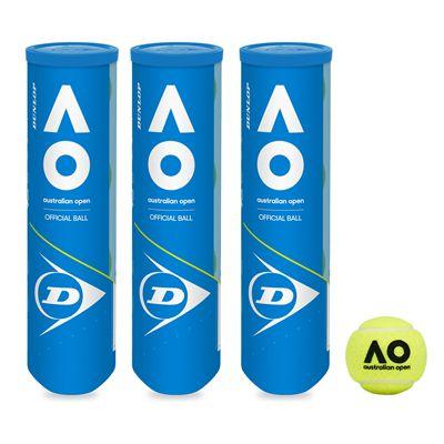 Dunlop Austalian Open Tennis Balls - 1 dozen - Main