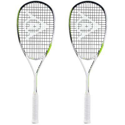 Dunlop Biomimetic Elite GTS Squash Racket Double Pack