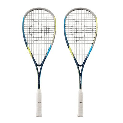 Dunlop Biomimetic Evolution 130 Squash Racket Double Pack