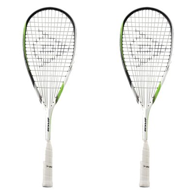 Dunlop Biomimetic Max Squash Racket Double Pack