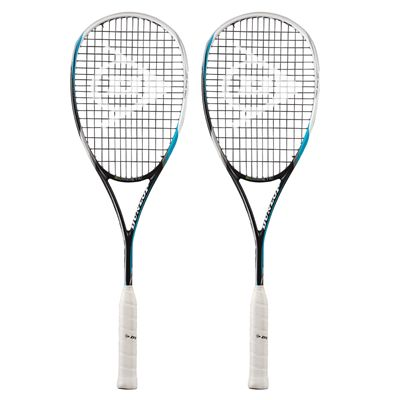 Dunlop Biomimetic Pro GTS 130 Squash Racket Double Pack
