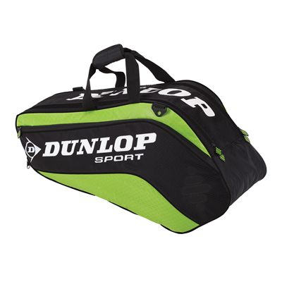 Dunlop Biomimetic Tour 6 Racket Thermo Bag Black Green