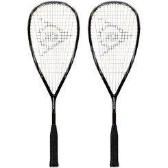 Dunlop Blackstorm 4D Titanium Squash Racket Double Pack