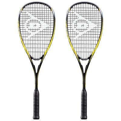 Dunlop Blackstorm Graphite Squash Racket Double Pack