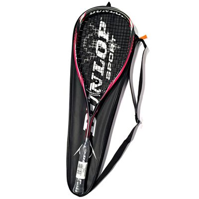 Dunlop Blackstorm Supreme Squash Racket Double Pack - Racket on Cover
