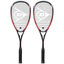Dunlop Blackstorm Supreme Squash Racket Double Pack
