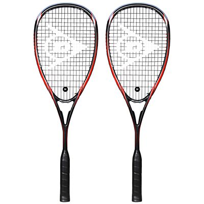 Dunlop Blackstorm Supreme Squash Racket Double Pack