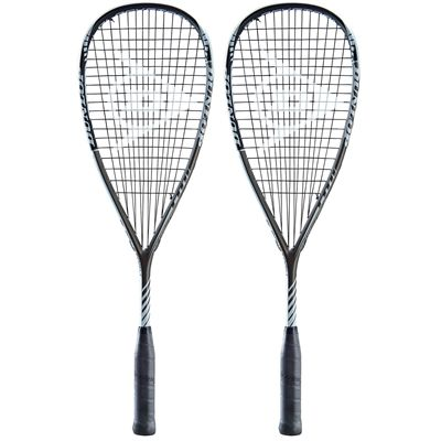 Dunlop Blackstorm Titanium 3.0 Squash Racket Double Pack