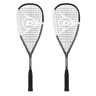 Dunlop Blackstorm Titanium 4.0 Squash Racket Double Pack