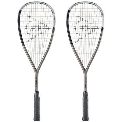 Dunlop Blackstorm Titanium 5.0 Squash Racket Double Pack