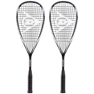 Dunlop Blackstorm Titanium Squash Racket Double Pack-core