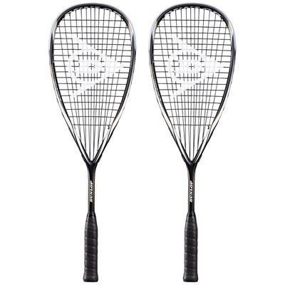 Dunlop Blackstorm Titanium Squash Racket Double Pack-core