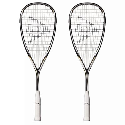Dunlop BlackStorm Titanium Squash Racket Double Pack