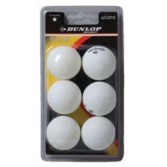 Dunlop Club Championship 1 Star Table Tennis Balls - Pack of 6