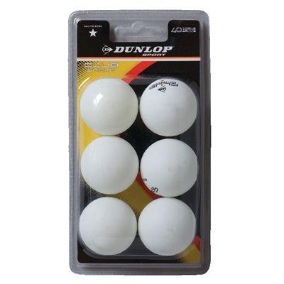 Dunlop Club Championship 1 Star Table Tennis Balls - Pack of 6 2019