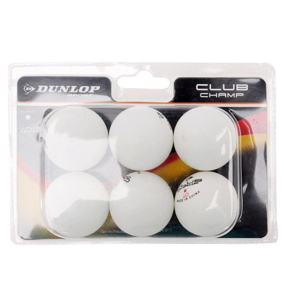 Dunlop club championship 1 star table tennis balls pack of 6 for 1 star table tennis balls
