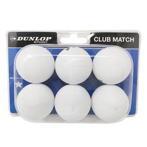 Dunlop Club Match 1 Star Table Tennis Balls - Pack of 6