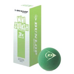 Dunlop Compete Mini Squash Balls - Pack of 3