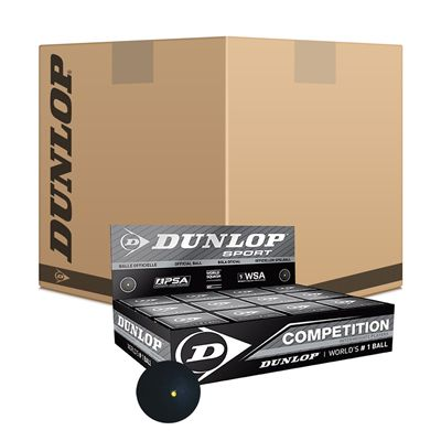 Dunlop Competition Squash Balls - 6 doz