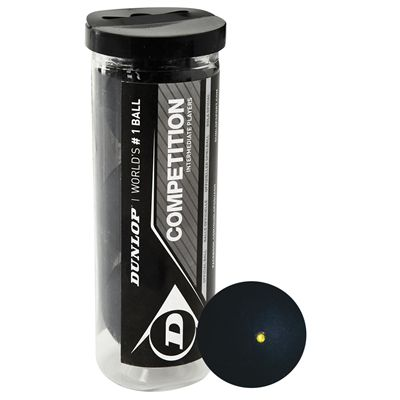 Dunlop Competition Squash Balls 2014 - Tube of 3