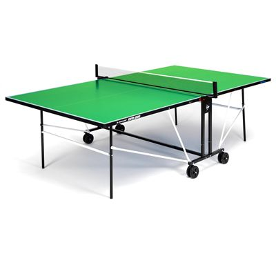 Dunlop EVO 1000 Outdoor Table Tennis Table - Green - Open