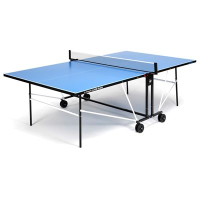Dunlop EVO 500 Outdoor Table Tennis Table - Blue - Open