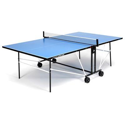 Dunlop EVO 500 Outdoor Table Tennis Table - Blue - Open