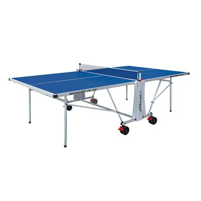Dunlop Evo 550 Outdoor Table Tennis Table - Blue/Folded