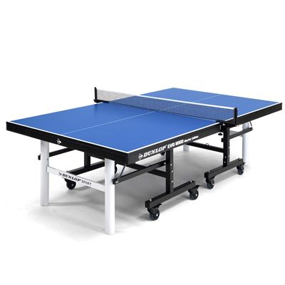 Dunlop EVO 8000 Master Edition Indoor Table Tennis Table - Blue Open