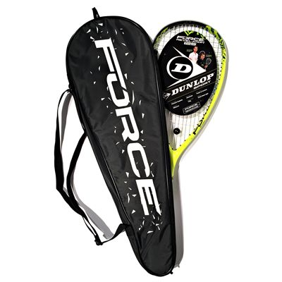 Dunlop Force Revelation 125 Squash Racket Double Pack Racket on Cover