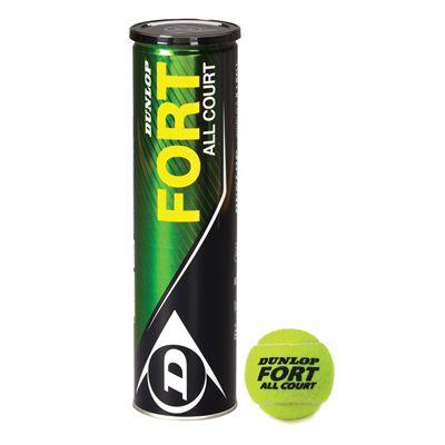 Dunlop Fort All Court Tennis Balls (4 Ball Can)