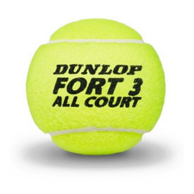 Dunlop Fort All Court Tournament Select Tennis Balls - Tube of 4 2019 - Ball