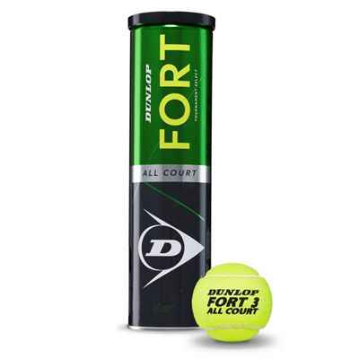 Dunlop Fort All Court Tournament Select Tennis Balls - Tube of 4 2019