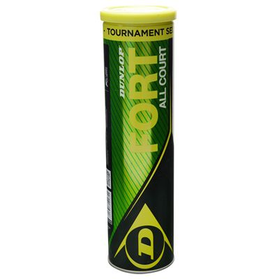 Dunlop Fort All Court Tournament Select Tennis Balls - Tube of 4
