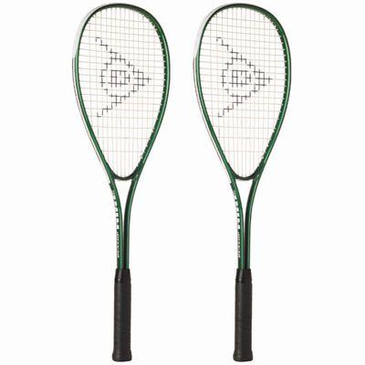 Dunlop Hire Alloy Squash Racket Double Pack
