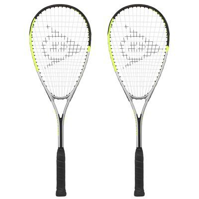 Dunlop Hyper Lite Ti 4.0 Squash Racket Double Pack