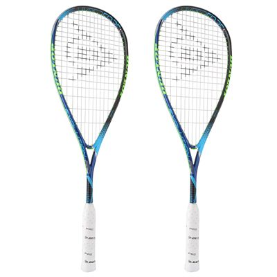Dunlop Hyperfibre Plus Evolution Pro Squash Racket Double Pack - Angled