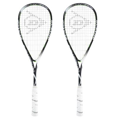 Dunlop Hyperfibre Plus Evolution Squash Racket Double Pack