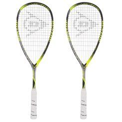 Dunlop Hyperfibre Plus Revelation 125 Squash Racket Double Pack