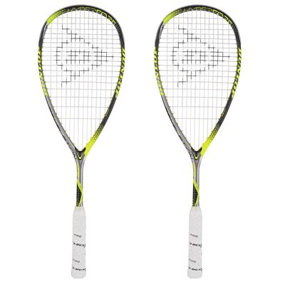 Dunlop Hyperfibre Plus Revelation 125 Squash Racket Double Pack