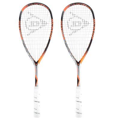 Dunlop Hyperfibre Plus Revelation 135 Squash Racket Double Pack