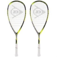 Dunlop Hyperfibre Plus Revelation Junior Squash Racket Double Pack