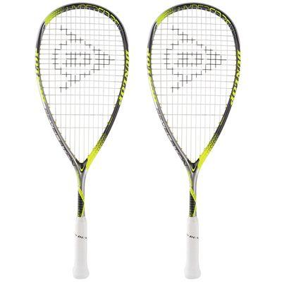 Dunlop Hyperfibre Plus Revelation Junior Squash Racket Double Pack