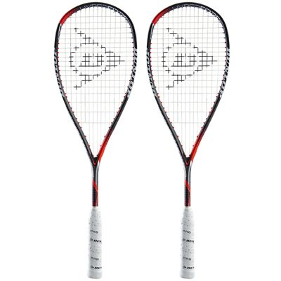 Dunlop Hyperfibre Plus Revelation Pro Lite Squash Racket Double Pack