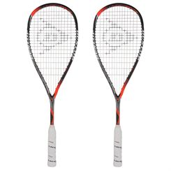 Dunlop Hyperfibre Plus Revelation Pro Squash Racket Double Pack