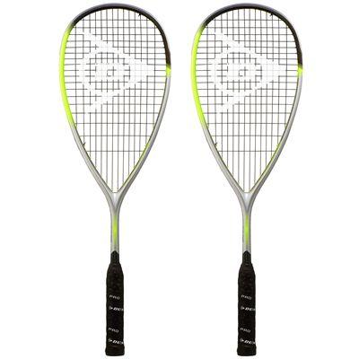 Dunlop Hyperfibre XT Revelation 125 Squash Racket Double Pack