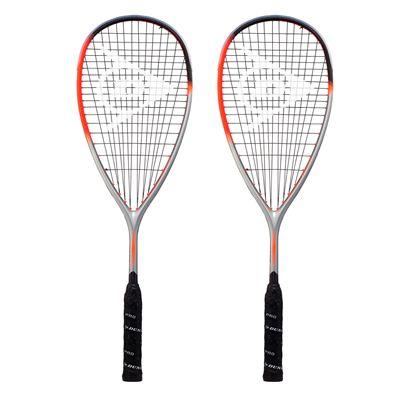 Dunlop Hyperfibre XT Revelation 135 Squash Racket Double Pack