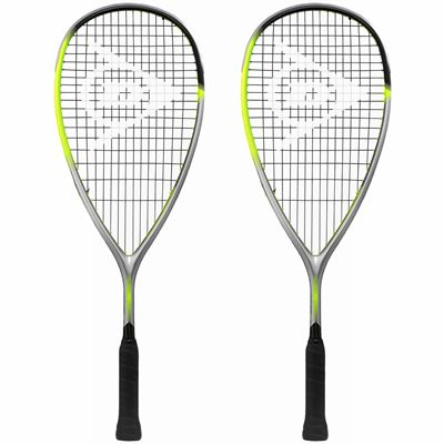 Dunlop Hyperfibre XT Revelation Junior Squash Racket Double Pack