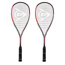 Dunlop Hyperfibre XT Revelation Pro Squash Racket Double Pack